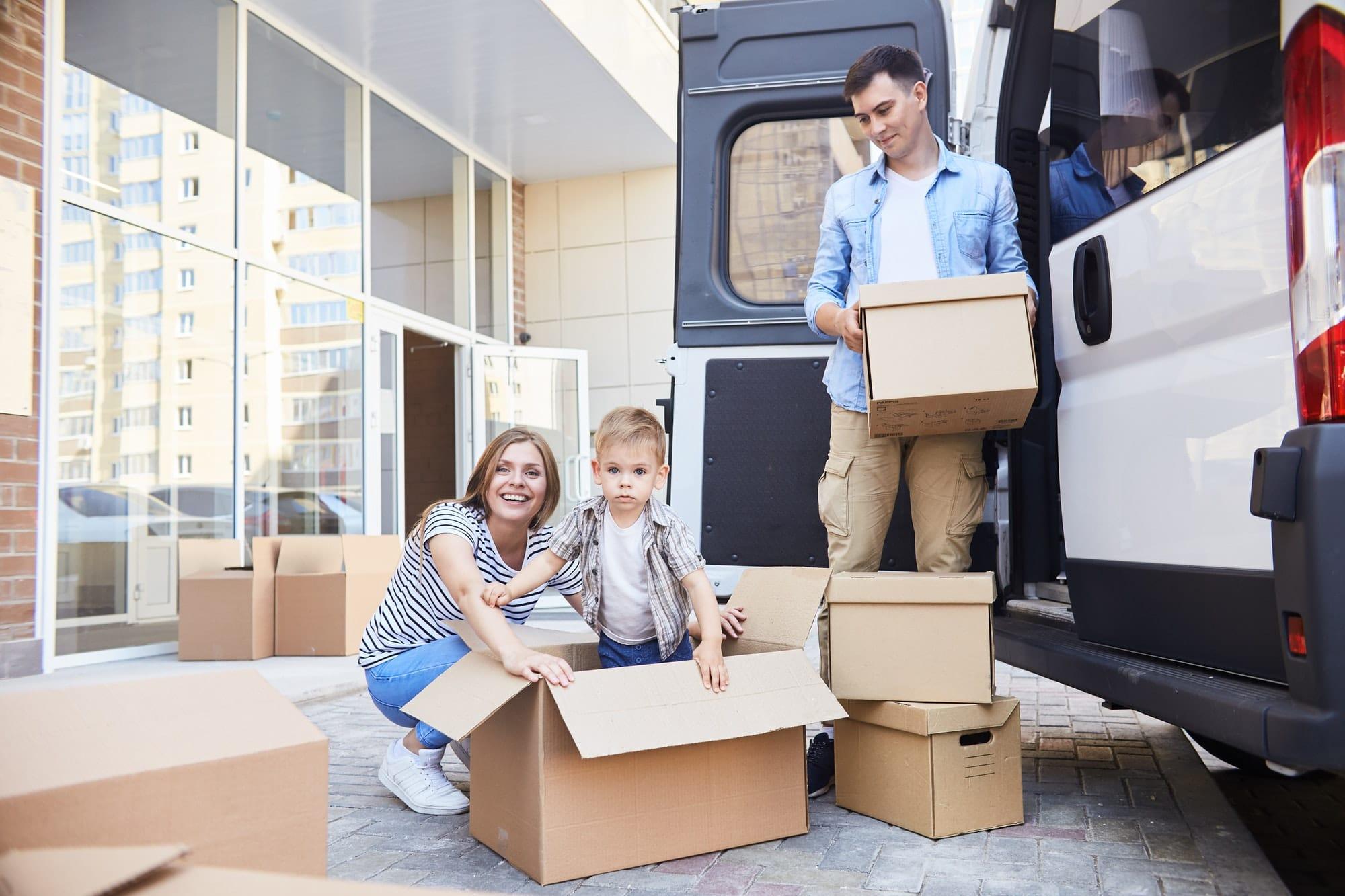 Joyful Family Moving House