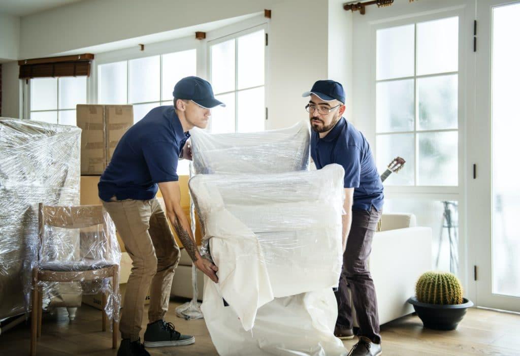 Carefully moving furniture
