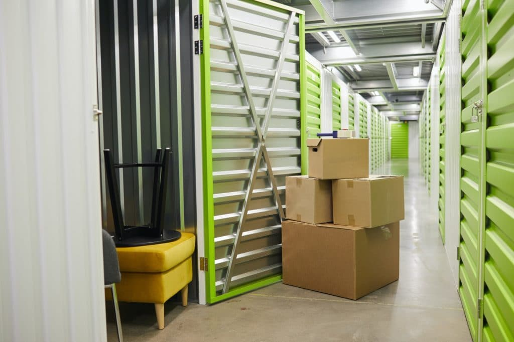 Boxes in Storage Unit